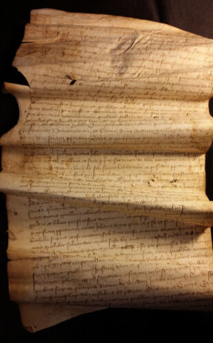 1400s – Parchment in Latin - Rare Old Medieval Manuscript