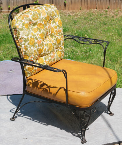 Rare Woodard Lady patio chair. 1950's era Rose, wrought iron, never used outside