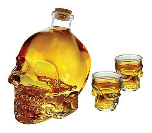 wine decanter skull 1 liter with shot glass 3PC set paypal #EbayWishlist