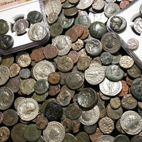 ✯Ancient Coin Estate Lot ✯ Roman Greek Byzantine✯ Bronze Silver Gold BC Money ✯ <br/> ✯RARE ~2000 Year Old GENUINE Ancient Coins! Huge Hoard✯