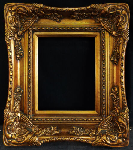 "Antique Reproduction Ornate Gold Frame 8"" x 10"", 3 1/2"" Wide, 2"" Thick"