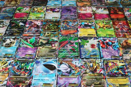 Pokemon Card Lot 100 OFFICIAL TCG Cards Ultra Rare Included - GX EX Mega + HOLOS <br/> ULTRA RARE IN EVERY LOT! 100% AUTHENTIC CARDS FROM USA!