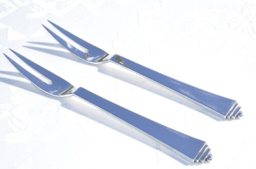 PYRAMID MEAT FORK  DESIGN HARALD NIELSEN FOR GEORG JENSEN IN 1927  STERLING SILV