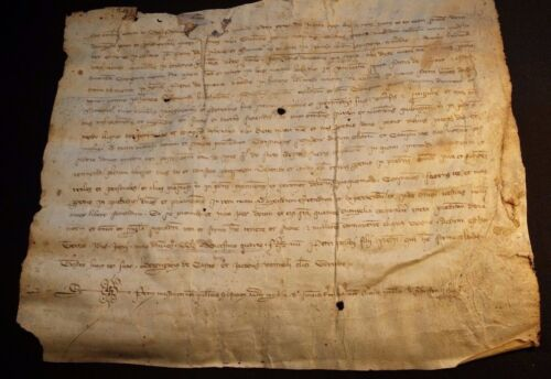 1324 - Parchment in  Latin Period CHARLES IV - Very Rare 693 Years Old