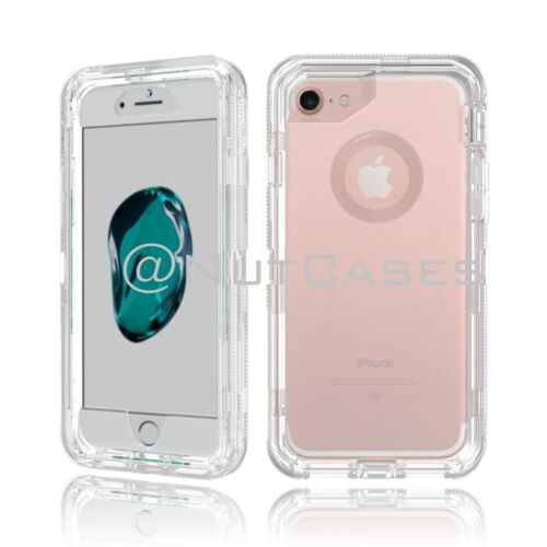 iPhone X 8 7 6 6s & Plus Transparent Clear Defender Cover Case Otterbox Inspired