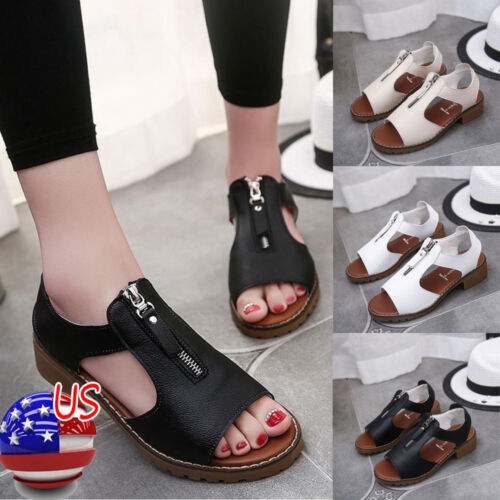 a08cd2a849ba Fashion Womens Summer Sport Sandals Shoes Ladies Ankle Strap Wedges Sandals  US