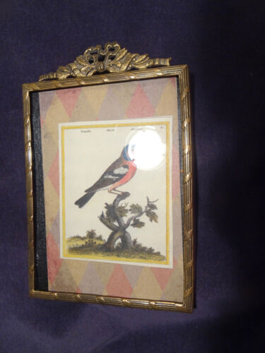 Miniature Picture Frame, Ornate Brass, Germany, Antique