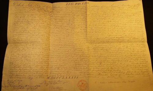 POPE LEO XIII BULLA MANUSCRIPT LETTER TO THE PATRIARCH OF INDIA - 1882