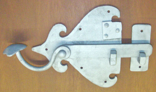 Colonial Pa. Dutch, Door Press Latch, Hand made Wrought Iron by Blacksmith