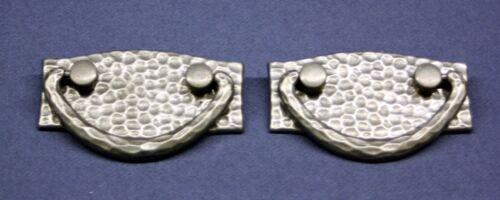 Hammered Metal New Drawer Pulls (looks like Pewter / Aluminum) sold in Lots of 2