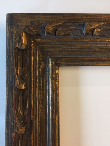 Antique Modernist Carved  12 X 16 Picture Frame Mexican