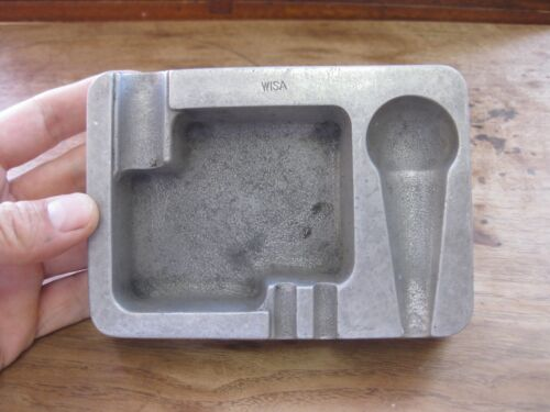 vintage MODERN DUTCH DESIGN PEWTER ASHTRAY - WISA - pipe cigar cigarette
