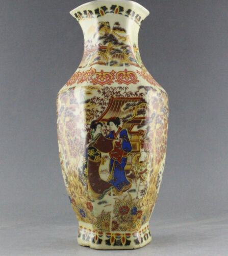 RARE DELICATE CHINESE FAMILLE ROSE PORCELAIN HAND PAINTING BELLE VASE QIANLONG
