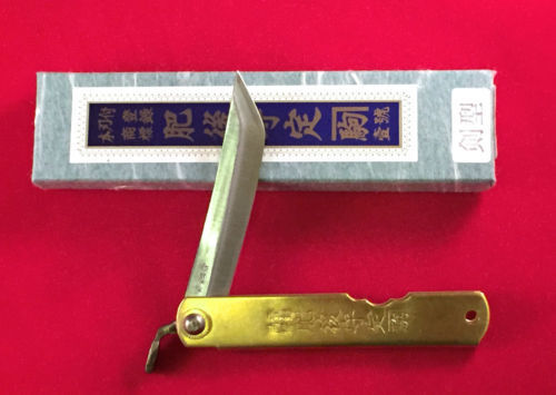 "FOLDING KNIFE HIGO KNIFE ""HIGONOKAMI"" JAPANESE SWORD TYPE / BLADE75 MM KATANA"