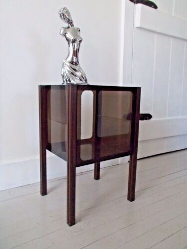 Vintage End Table Stand Lucite Plastic Acrylic Magazine Mid Century Modern