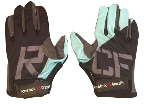 New Men's REEBOK Crossfit Gloves S02466 Black Blue Workout Training MSRP $50