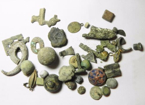 ZURQIEH - ANCIENT HOLY LAND , GROUP  ANCIENT AND ANTIQUE METAL ITEMS