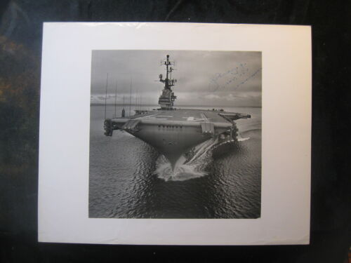 Vintage US Navy 8 x 10 USS Coral Sea CVA-43 (Signed By Commanding Officer 1004Navy - 66533