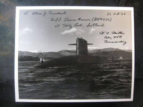 Vintage US Navy 8 x 10 Photo USS Sub Ron 14 Signed By Commanding Officer 1009Navy - 66533