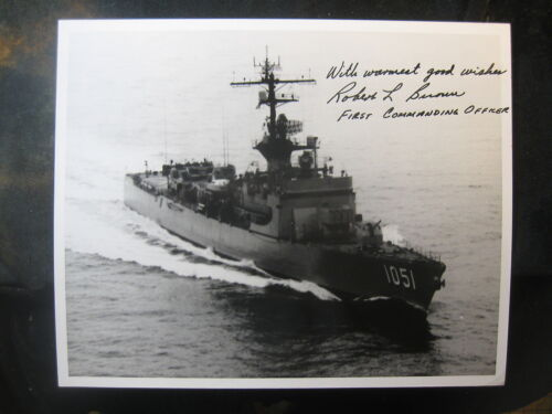 Vintage US Navy 8 x 10 Photo USS O'Callahan Signed By Commanding Officer 1011Navy - 66533