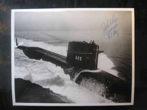Vintage US Navy 8 x 10 Photo USS Henry Clay Signed By Commanding Officer 1007Navy - 66533