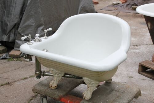 antique sitz bath tub | standard vtg deco victorian bathroom cast iron bathtub