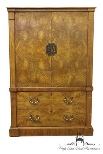 CENTURY FURNITURE Bookmatched Burl Asian Style 41″ Clothing Armoire