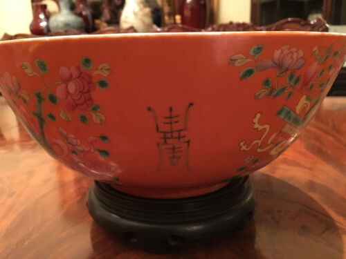 A Large Chinese Qing Dynasty Famille Rose Porcelain Bowl.