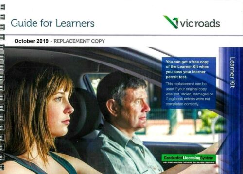 VIC ROADS GUIDE FOR LEARNERS + LEARNER HOURS LOG BOOK REPLACEMENT 2017 NOVEMBER