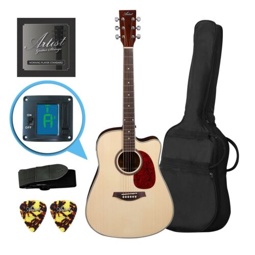 Artist LSPCNT Beginner Acoustic Guitar Pack With Cutaway - New