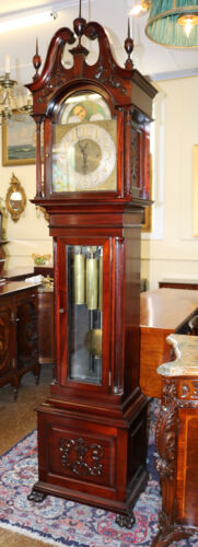 Rare Bawo & Dotter Federal Tall Case Grandfather Clock Gorgeous Restoration 1900