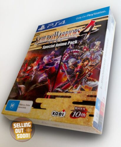 Samurai Warriors 4 PS4 NEW RARE OZI Special Anime Pack COLLECTORS BluRay Box Set