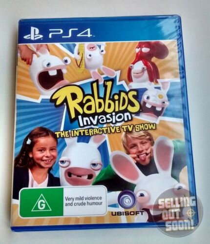 Rabbids Invasion (Sony PS4) ✓NEW ✓SEALED ✓RARE OZI Game The Interactive TV Show