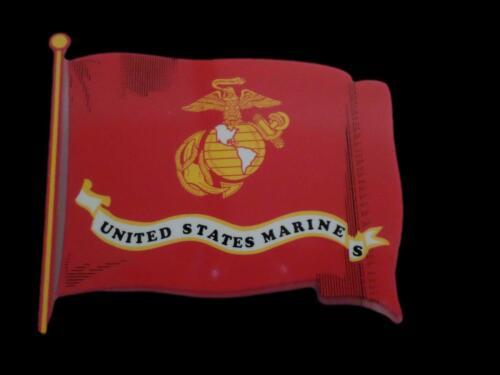U.S MILITARY MARINE CORPS FLAG WITH EGA WINDOW DECAL BUMPER STICKER. Stickers & Decals - 104022