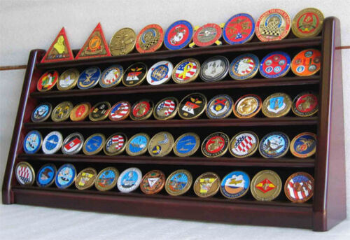 5 Row Military Challenge/Casino Coin Display Rack Case Cabinet Stand Coin5-MAHChallenge Coins - 74710