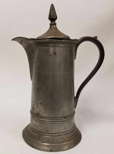Antique 19th c. Thomas Danforth Boardman American 19th c. Pewter Church Flagon