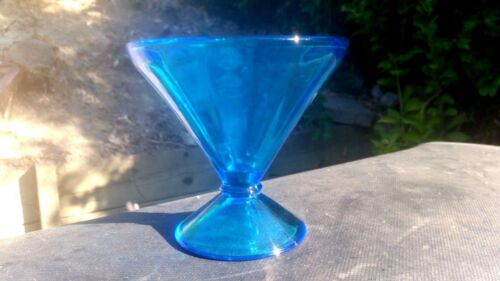 """Peacock Blue NEW MARTINSVILLE Cone Shaped Candy Bottom 4 7/8""""  X 5 1/8"""" # 149"""