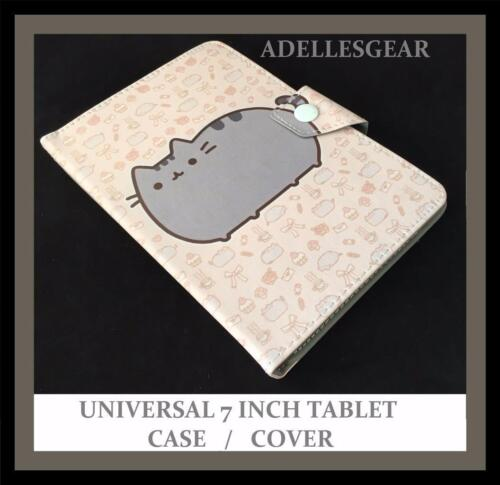 UNIVERSAL 7 INCH ANDROID TABLET CASE SAMSUNG , PENDO, LENOVO POPULAR CAT DESIGN