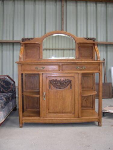 French Antique art nouveau Art Deco desserte buffet cabinet 1925