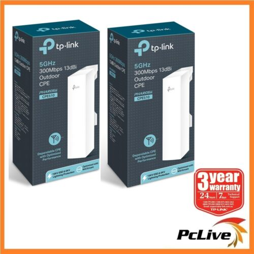 2x TP-Link CPE510 5Ghz 300Mbps 13dBi Outdoor Wireless Access Point Long Range