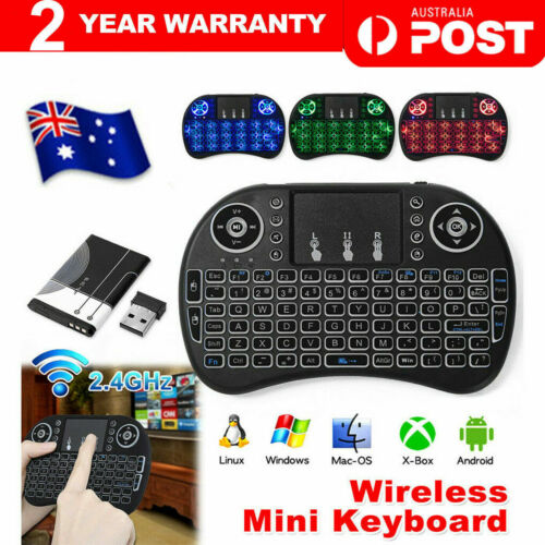 Mini Wireless 2.4GHz Keyboard Touchpad Backlit for PC PS3 PAD TV Box