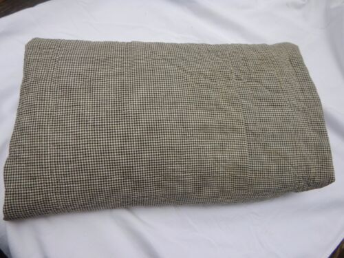 """Early Quilt  CUTTER with HOMESPUN YARDAGE  vintage    75"""" x 75"""""""