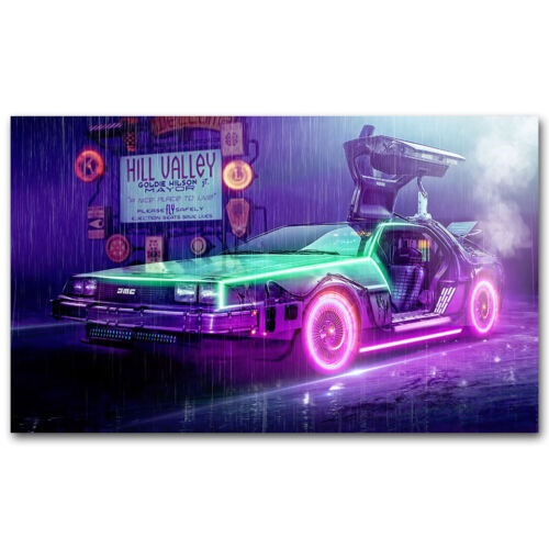 Back to the Future 1 2 3 Classic Movie Art Silk Poster 12x20 24x40inches