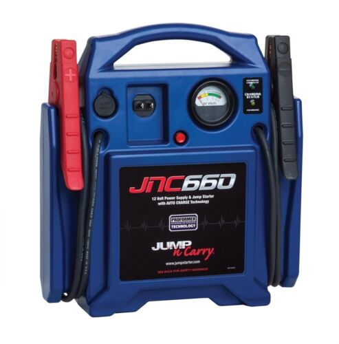 """Jump N Carry JNC660 1700 Amp 12V Jump Box! 46"""" Cables Automatic Charger GENUINE!"""