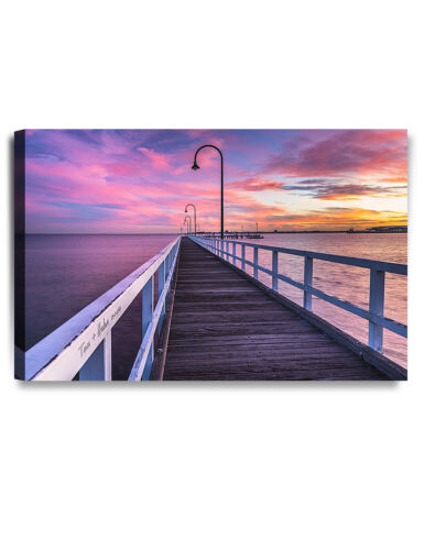 Personalized Canvas Prints Romance on Pier Perfect Gift ready to hang DecorArts