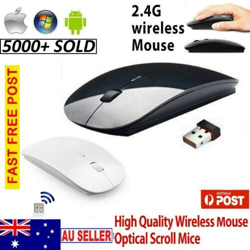 2.4GHz Ultra Slim Wireless Optical Mouse + nano USB Receiver for Laptop PC Mac