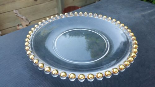 "Crystal CANDLEWICK With Gold on 7¼"" Salad Plate"