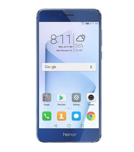 NEW HUAWEI Honor 8 64GB Unlocked GSM 4G LTE QuadCore Smartphone BONUS! Blue