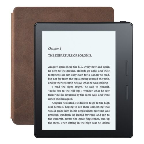 """Kindle Oasis E-reader - Walnut, 6""""  Wi-Fi - Includes Special Offers"""