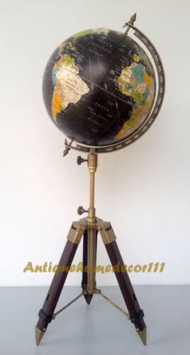 Desktop Decor Collectible Educational Model Vintage Reference World Globe Tripod